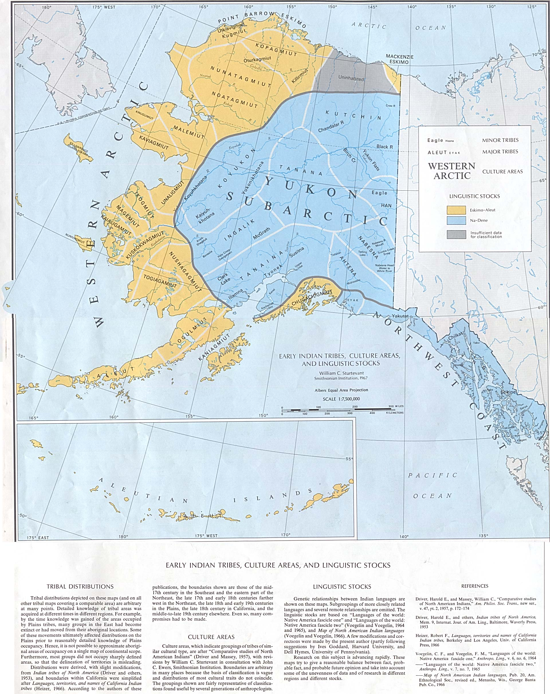 Early Native American Tribes in Alaska Historical Map Alaska