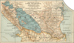 Early map of Nicaragua Canal