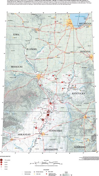 Earthquakes in the Central US Map