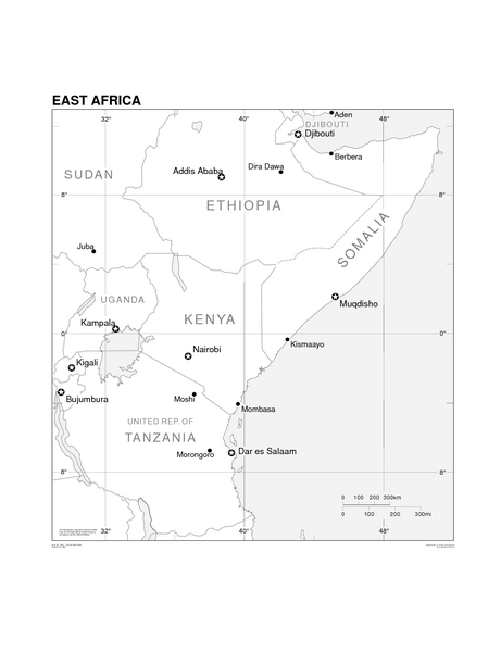 Map Of Africa Outline Printable.Blank Map Of East Africa Jackenjuul