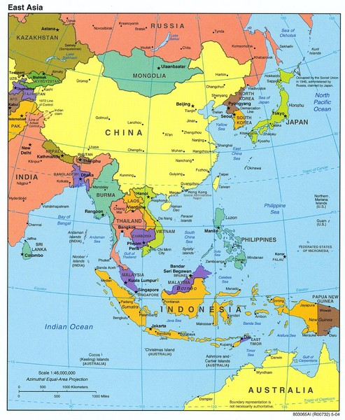 Regional Map Of Asia.East Asia Map East Asia Mappery