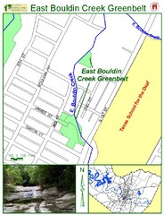 East Bouldin Creek Map