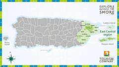 East Central Puerto Rico Map