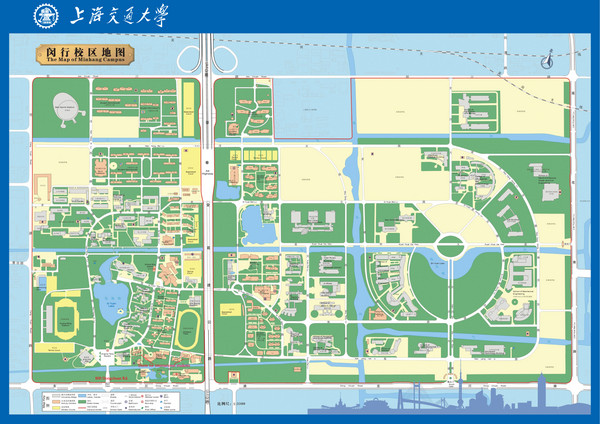 East China Normal University in Shanghai, China Map