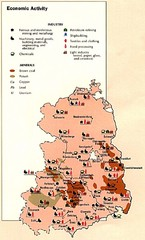 East Germany Economic Activity Map