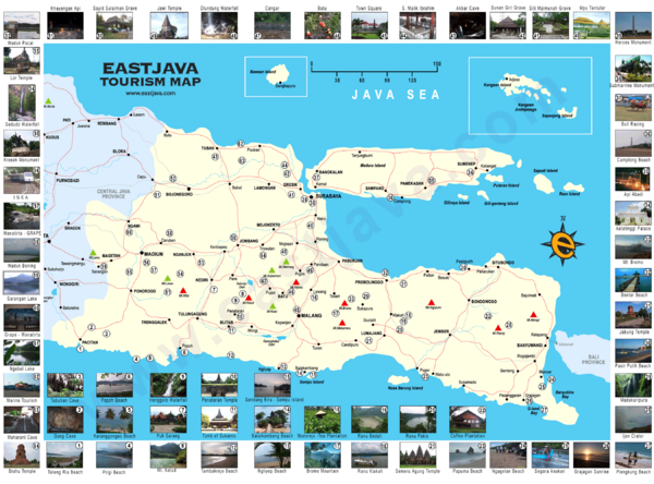 East Java Tourism Map