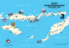 East Nusatenggara Tourist Map