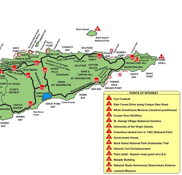 East St Croix Map