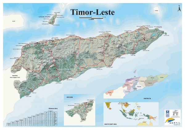 East Timor Relief Map