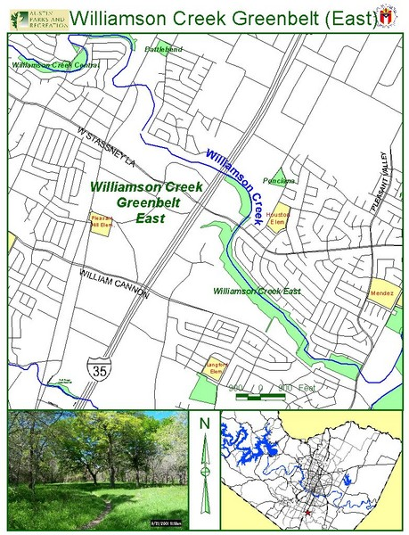 East Williamson Creek Greenbelt Map