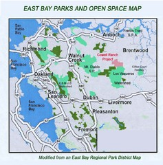 Eastbay Parks and Open Spaces Map
