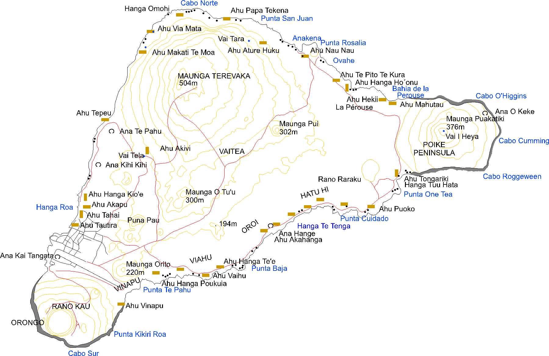 Easter Island Map Easter Island Mappery - Easter island map