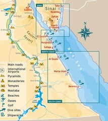 Eastern Egypt Tourist Map