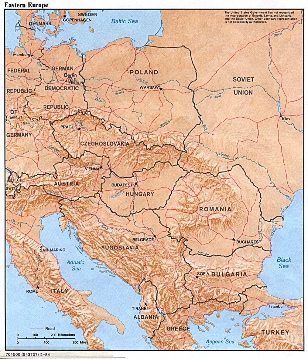 Eastern Europe Country Map Eastern Europe Mappery - Map of eastern europe