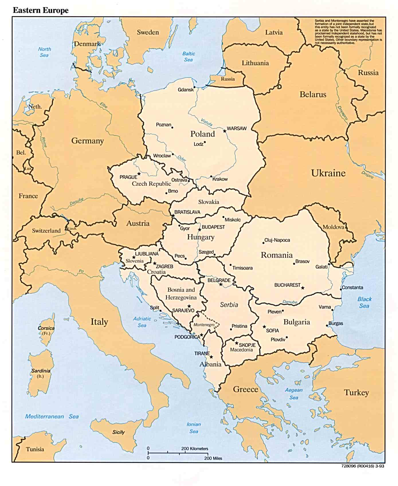 Eastern european map see map details from anamericaninbelarus blogspot