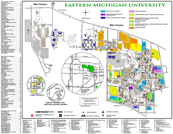 Eastern Michigan University Map Ypsilanti Mi Mappery