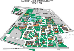 Eastern Michigan University Map