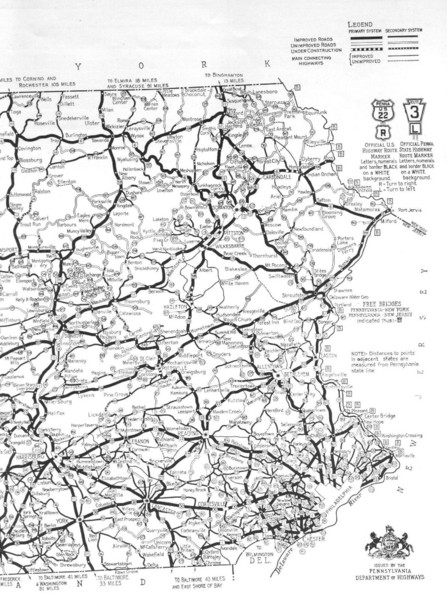 Eastern Pennsylvania Road Map