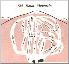 Eaton Mountain Ski Area Ski Trail Map