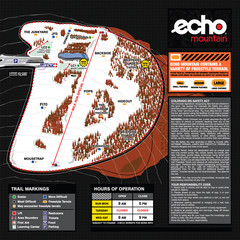 Echo Mountain Park Ski Trail Map