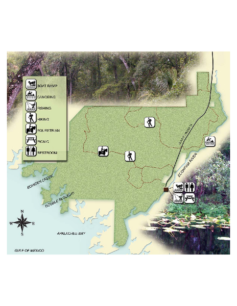 Econfina River State Park Map