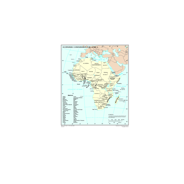Economic Commission for Africa Map