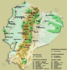 Ecuador National Parks Map