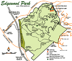 Edgewood County Park Trail Map