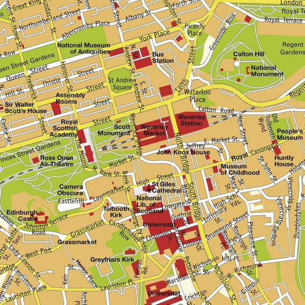 Edinburgh Scotland Tourist Map Edinburgh mappery – Tourist Map Scotland
