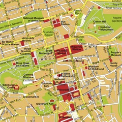 Edinburgh, Scotland Tourist Map