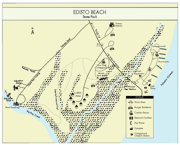 Edisto Beach State Park Map Edisto Beach State Park South Carolina