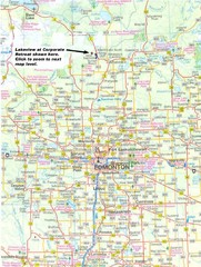 Edmonton, Alberta Tourist Map