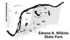 Edness Kimball Wilkins State Park Map