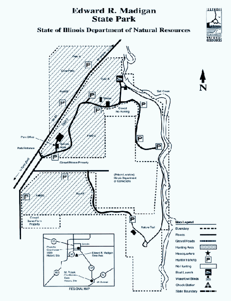 Edward R. Madigan State Park, Illinois Site Map