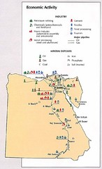 Egypt Economic Activity Map