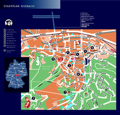 Eisenach Tourist Map