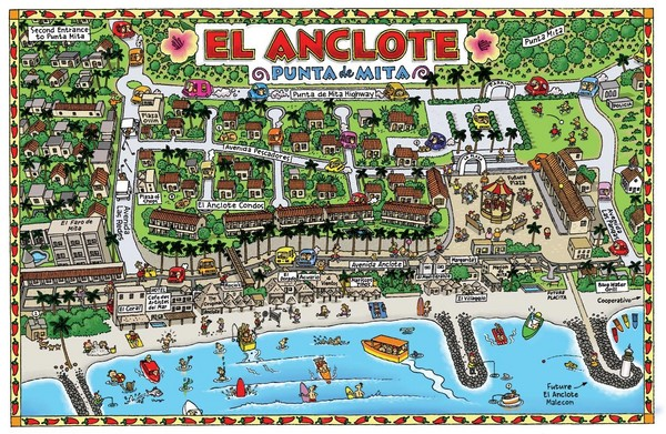 El Anclote, Mexico Tourist Map