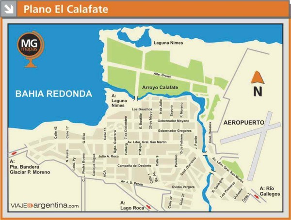 El Calafate City Map