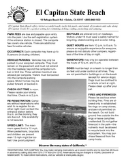El Capitan State Beach Campground Map
