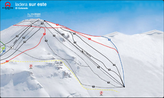 El Colorado-Farellones Ski Trail Map