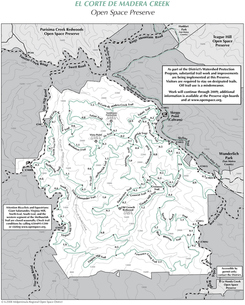El Corte de Madera Open Space Preserve Map