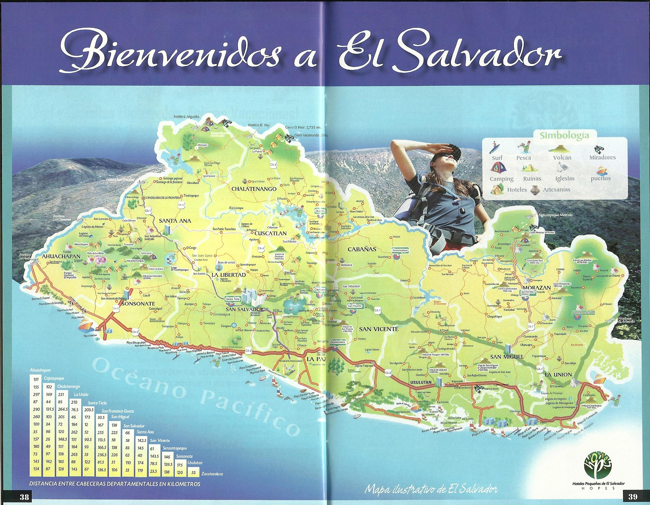 Western El Salvador Travel Map Follow Us