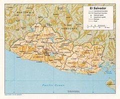 El Salvador Tourist Map