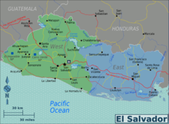 El Salvador regions Map