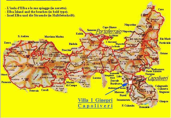 Elba topographic Map Elba Italy mappery
