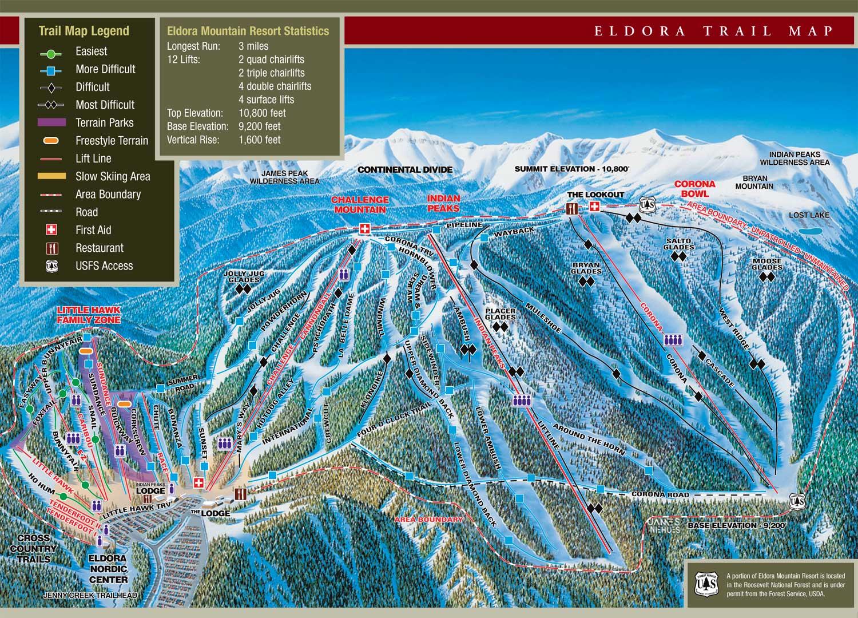 eldora mountain ski trail map nederland co 80466 u2022 mappery