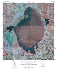 Elevation Contours of Lake Okeechobee Map
