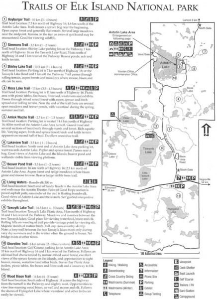 Elk Island National Park Trail Map - Elk Island National Park ...