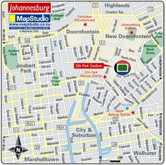 Ellis Park Stadium, Johannesburg, South Africa Map