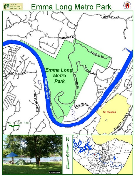 Emma Long Metro Park Map